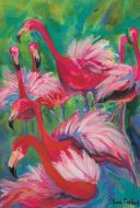 Garden Flag - Fancy Flamingo