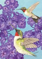 Hungry Hummingbirds Garden Flag