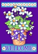 Garden Flag - Welcome Daisy